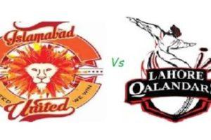 Islamabad United Vs Lahore Qalandar