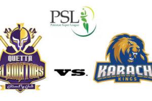 Quetta Gladiators Vs Karachi Kings
