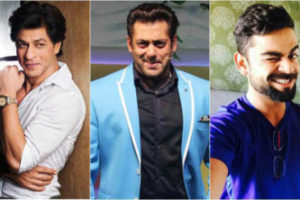 Salman Khan, Shah Rukh Khan and Virat Kohli retain the top three spots on Forbes'
