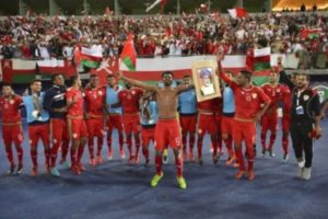 Stadium barrier collapses at Gulf Cup final