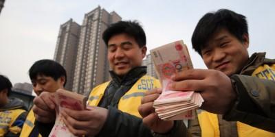 china counting cash