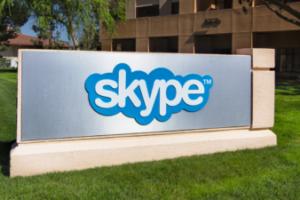 skype corporate sign
