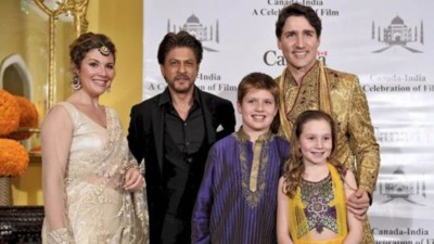 shahrukh and Justin trudeau