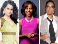 Kangana Ranaut with Michelle Obama aWinfrey
