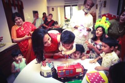 Here's how Rajinikanth celebrated the birthday of his grandson