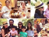 Karisma rings in 44th birthday with Saif, Kareena and Taimur in London
