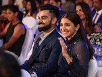 Anushka Sharma and Virat Kohli celebrate the big win at BCCI awards