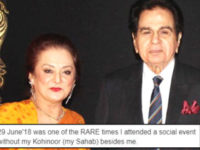 Saira Bano missed her Kohinoor Dilip Kumar attending a wedding alone
