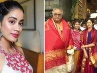 Janhvi Took Blessings At Tirupati Ahead Of Dhadak's Release