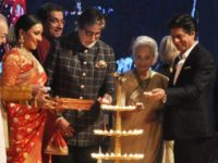 Amitabh Bachchan and Shah Rukh Khan inaugurate the ceremony of Kolkata International Film Festival.