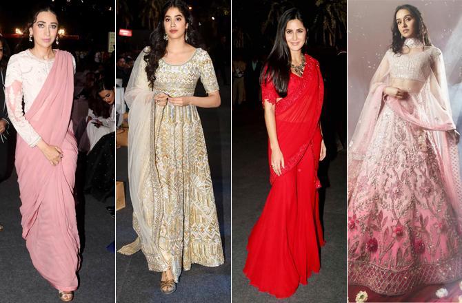 Karisma Kapoor, Janhvi Kapoor, Alia Bhatt, Katrina Kaif, Shraddha Kapoor
