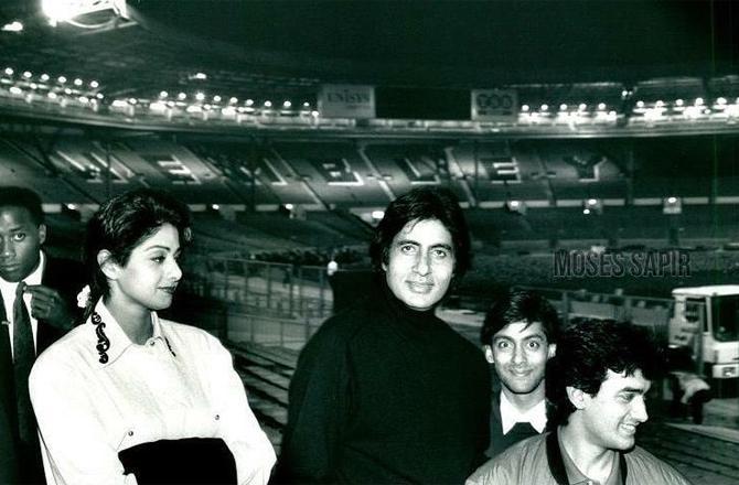 Amitabh Bachchan, Sridevi, Salman Khan, Aamir Khan