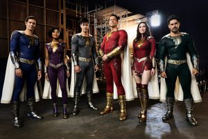 Shazam 2 First Official Image Reveals All 6 Redesigned Superhero Suits